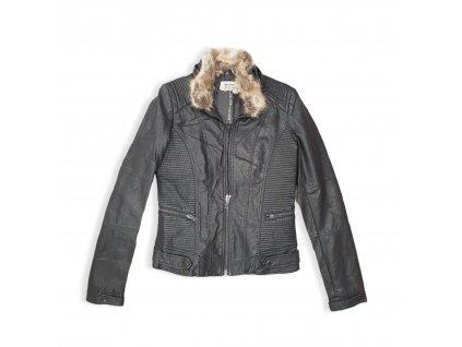 Dámská koženková bunda BLACK