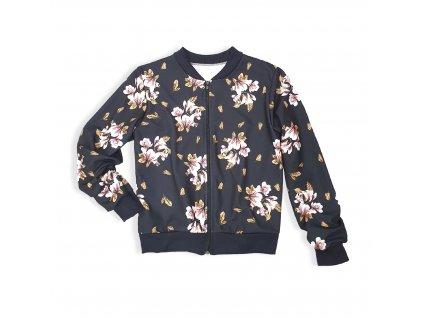 Dámská jarní bunda s květinovým potiskem