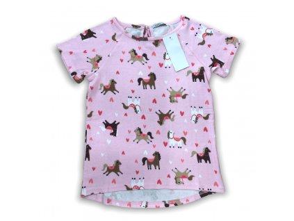 Dívčí tričko Pink horse