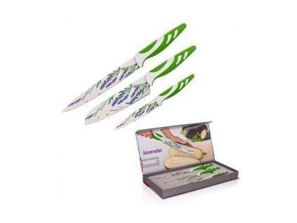 Sada nožů s nepřilnavým povrchem LAVENDER Green, 3 ks