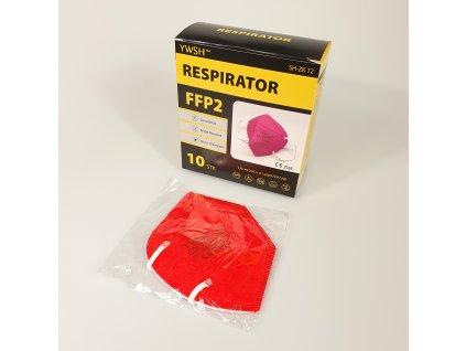 Respirátor FFP2 červený