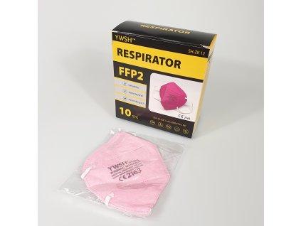 Respirátor FFP2 světle růžový