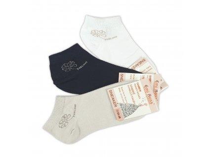 Dámské kotníkové ponožky Feeling (3 páry)