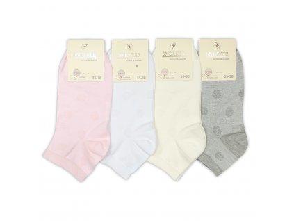 Dámské kotníkové ponožky Puntík (4 páry)