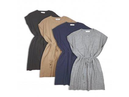 Dámské svetrové šaty OVERSIZE