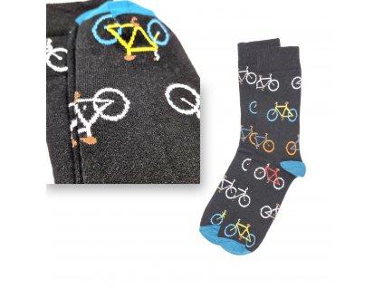 Veselé ponožky VIRGINA bicykl
