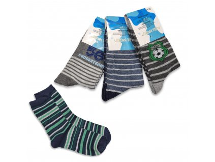 Chlapecké ponožky LOOKEN pruhované (4 páry)