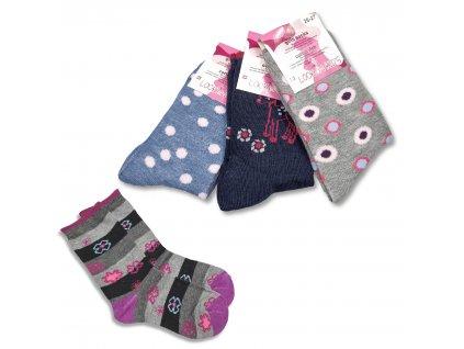 Dívčí ponožky LOOKEN ZTY-7961 (4 páry)