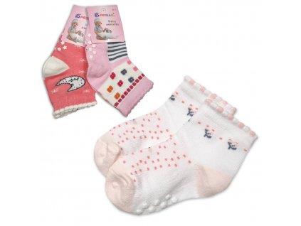 Baby ponožky protiskluzové