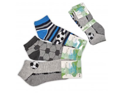 Chlapecké kotníkové ponožky LOOKEN fotbal (3 páry)