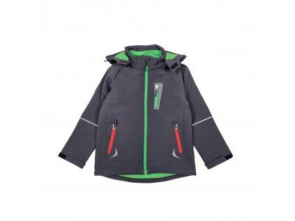Dětská softshellová bunda KUGO šedo-zelená