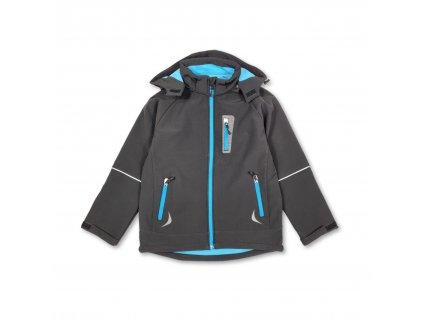 Dětská softshellová bunda KUGO černo-modrá