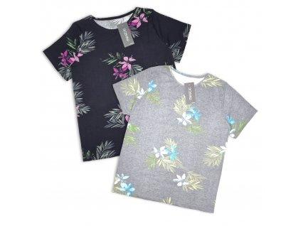 Bavlněné tričko s květy