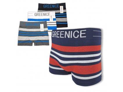 Pánské boxerky Greenice pruhované