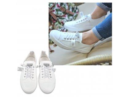 Dámské nazouvací tenisky Fashion White