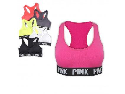 Sportovní podprsenka Neon Pink
