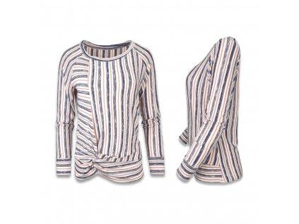 Dámský svetr proužkovaný