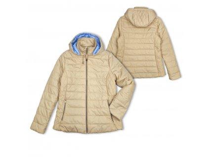 Dámská prošívaná bunda s odepínací kapucí