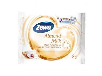 zewa almond milk vlhceny toaletni papir bily 42 ubrousku