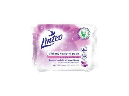 933016 Linteo vlhceny toaletni papir s kyselinou mlecnou 60 ks