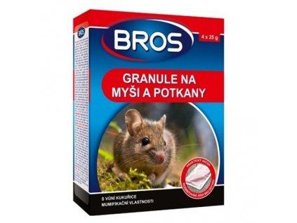 bros granule na mysi a potkany 140g l