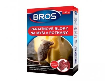 bros parafinove bloky na mysi a potkany 100g l
