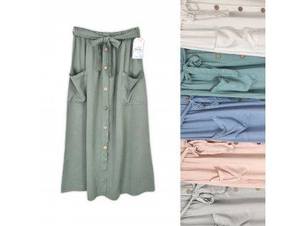 Dámská midi sukně s knoflíky Italy