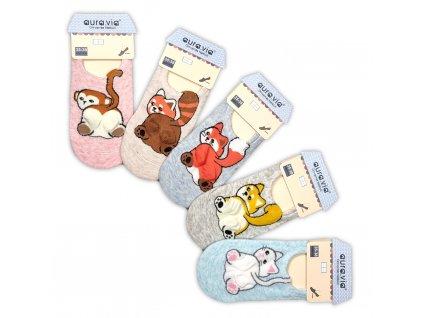 Veselé nízké ponožky se zvířátky