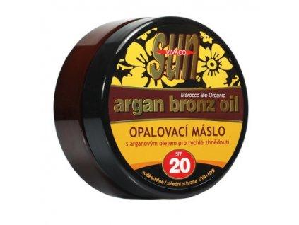 Opalovací máslo s bio arganovým olejem SPF20 SUN VITAL