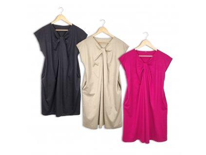 Dámské oversize šaty s kapsami