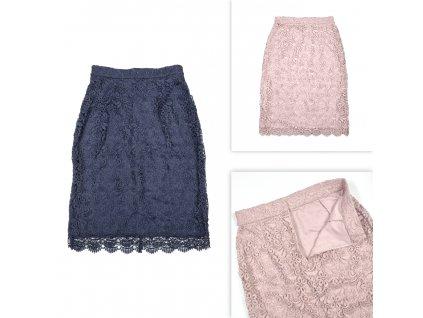 Dámská sukně s krajkou