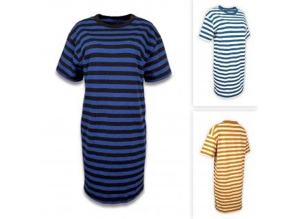 Tričkové pruhované šaty
