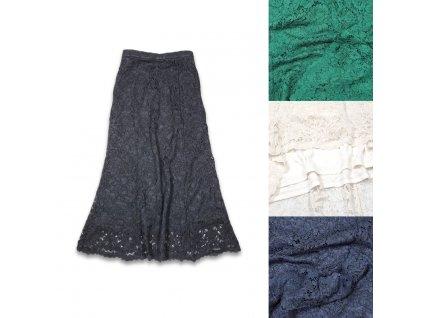 Dámská midi sukně s krajkou