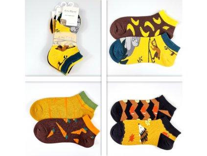 Dámské veselé kotníkové ponožky ZCC-3601 (3 páry)