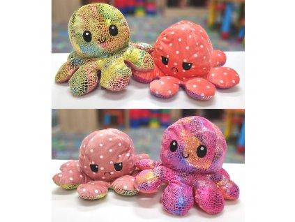 Náladová chobotnička Maxi - oboustranný plyšák