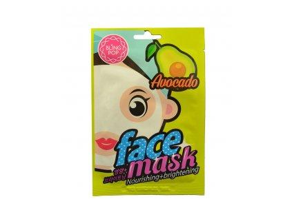 BLING POP Korea 20ml Avocado - výživná & rozjasňující maska