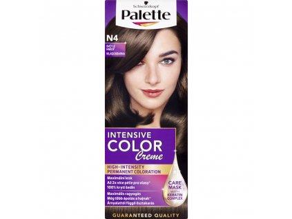 Schwarzkopf Palette Intensive Color Creme, barva na vlasy, N4 světle hnědá, 50 ml