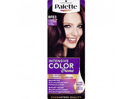 Schwarzkopf Palette Intensive Color Creme, barva na vlasy, RFE3 intenzivně tmavě fialová, 50 ml