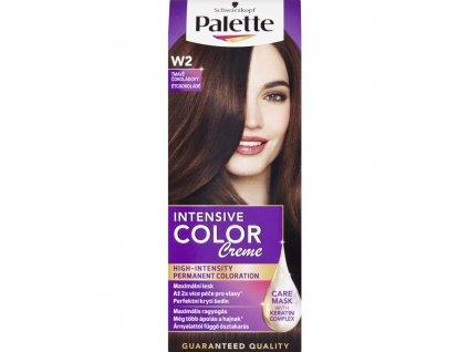 Schwarzkopf Palette Intensive Color Creme, barva na vlasy,W2 tmavě čokoládová, 50 ml