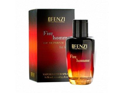 JFENZI FIRE HOMME for MEN EDP Pánská lesní dřevitá svěží parfémová voda 100ml
