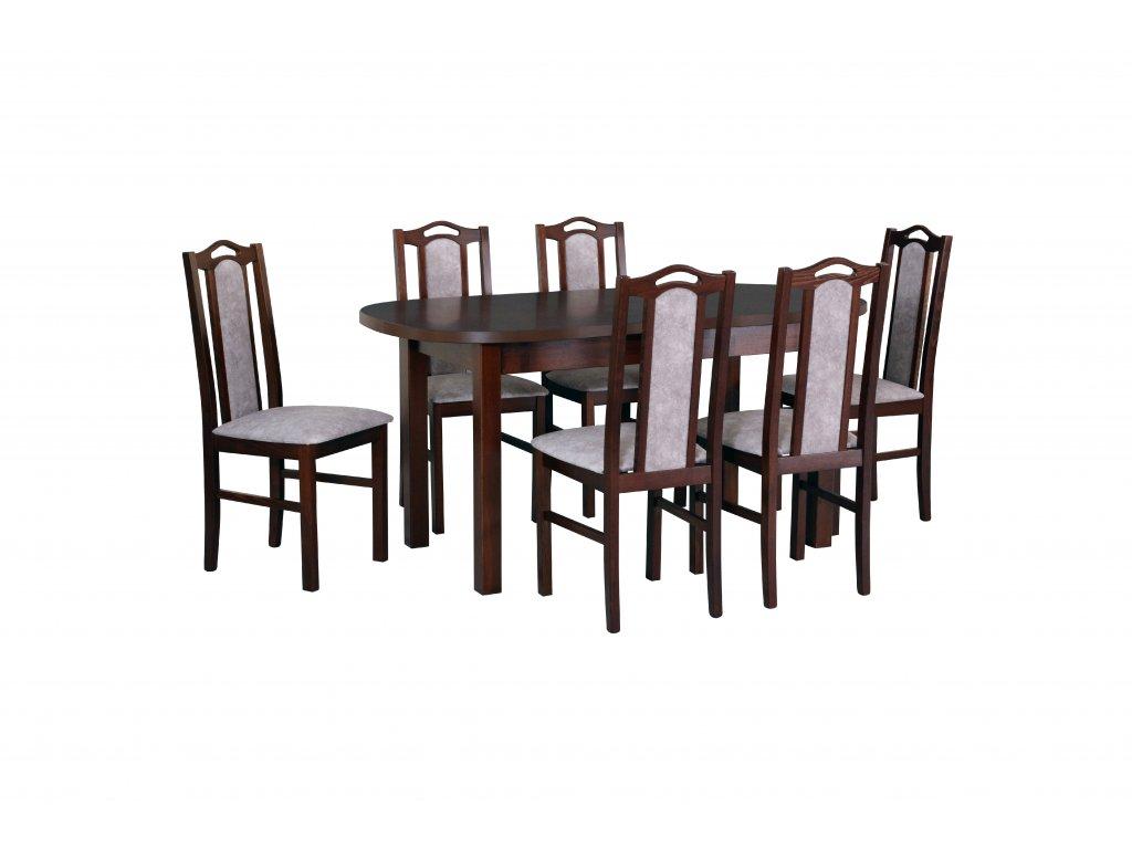 WENUS 1, krzesła BOS 9 orzech (18A)