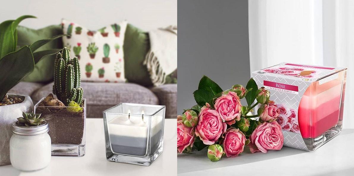 Luxusní vonné svíce ve skle se dvěmi knoty