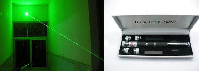 Zelený green laser - ukazovátko