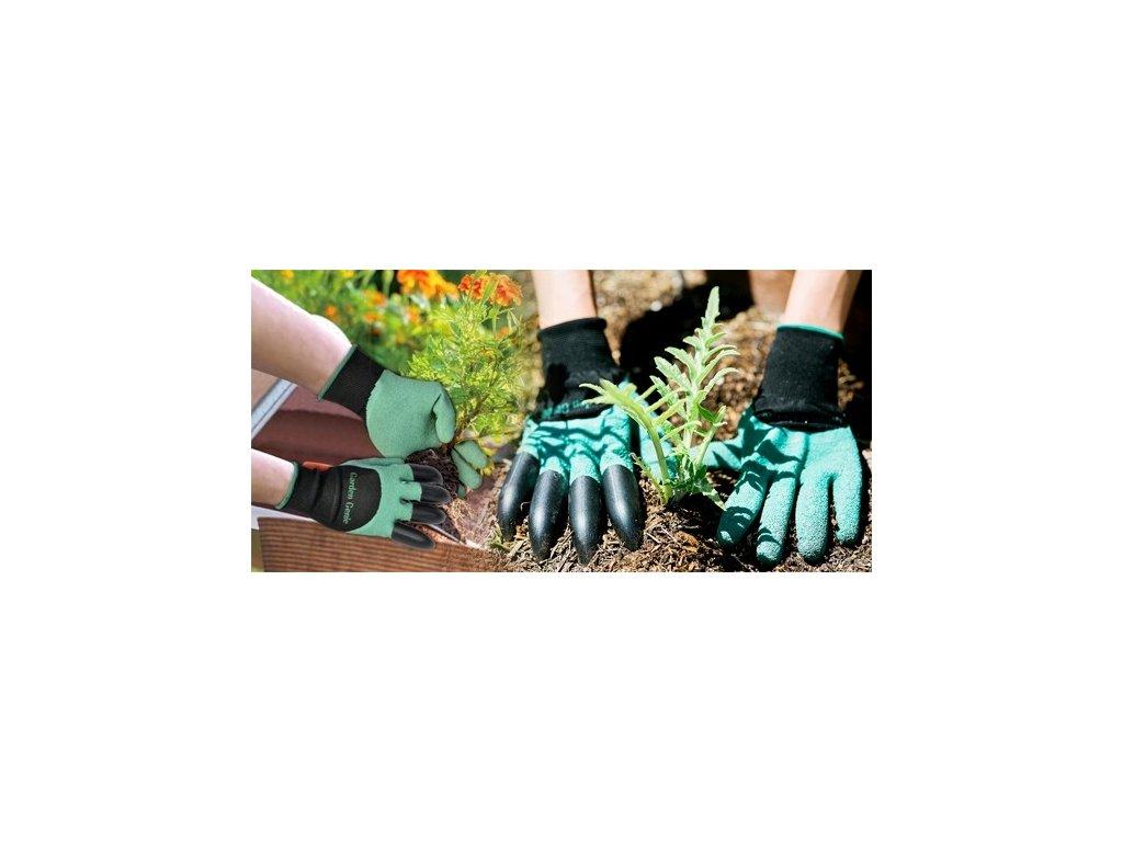 Zahradnická rukavice s plastovými drápy - zahradníci jistě ocení