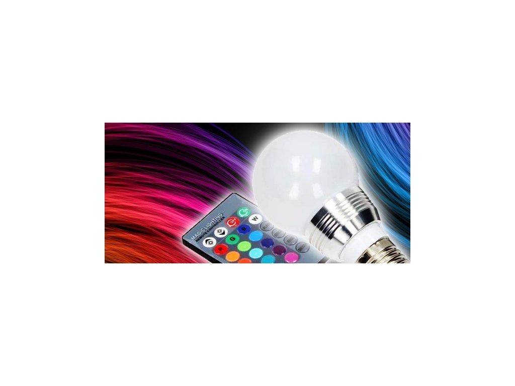 Barevná LED žárovka s dálkovým ovladačem
