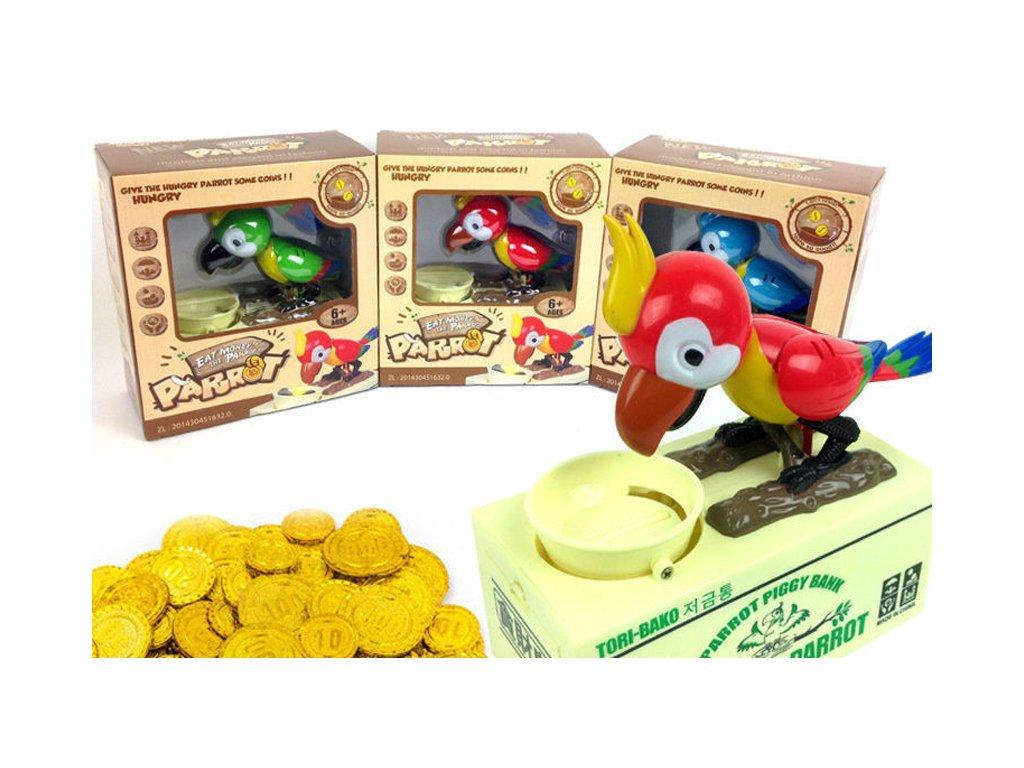 Hladový papoušek - POKLADNIČKA