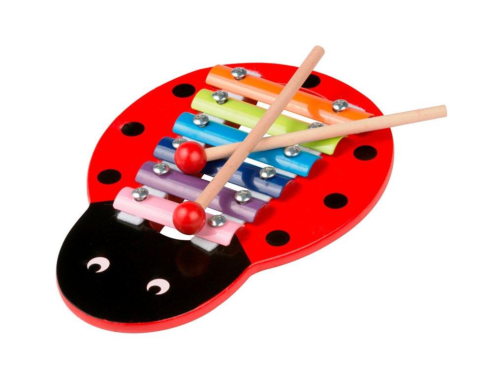 Dřevěný xylofon - beruška