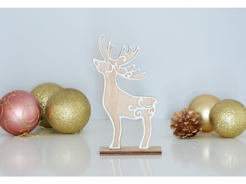 Dřevěná vánoční dekorace - mini