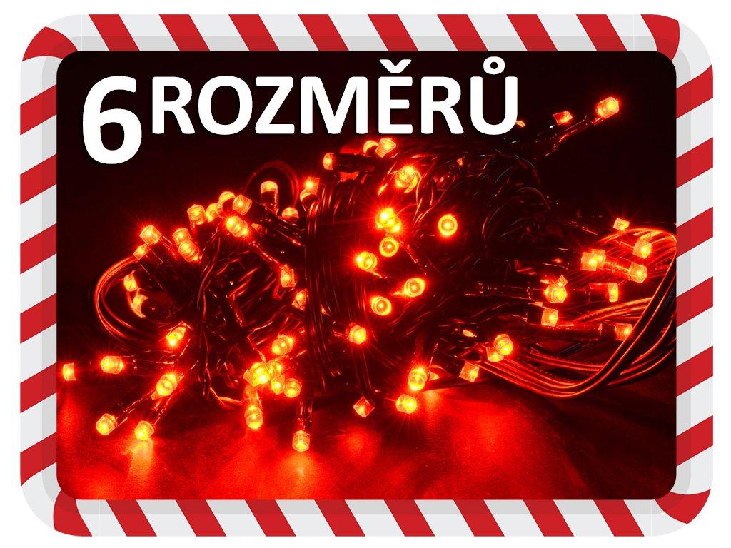 vanocni svetylka na stromek cervene