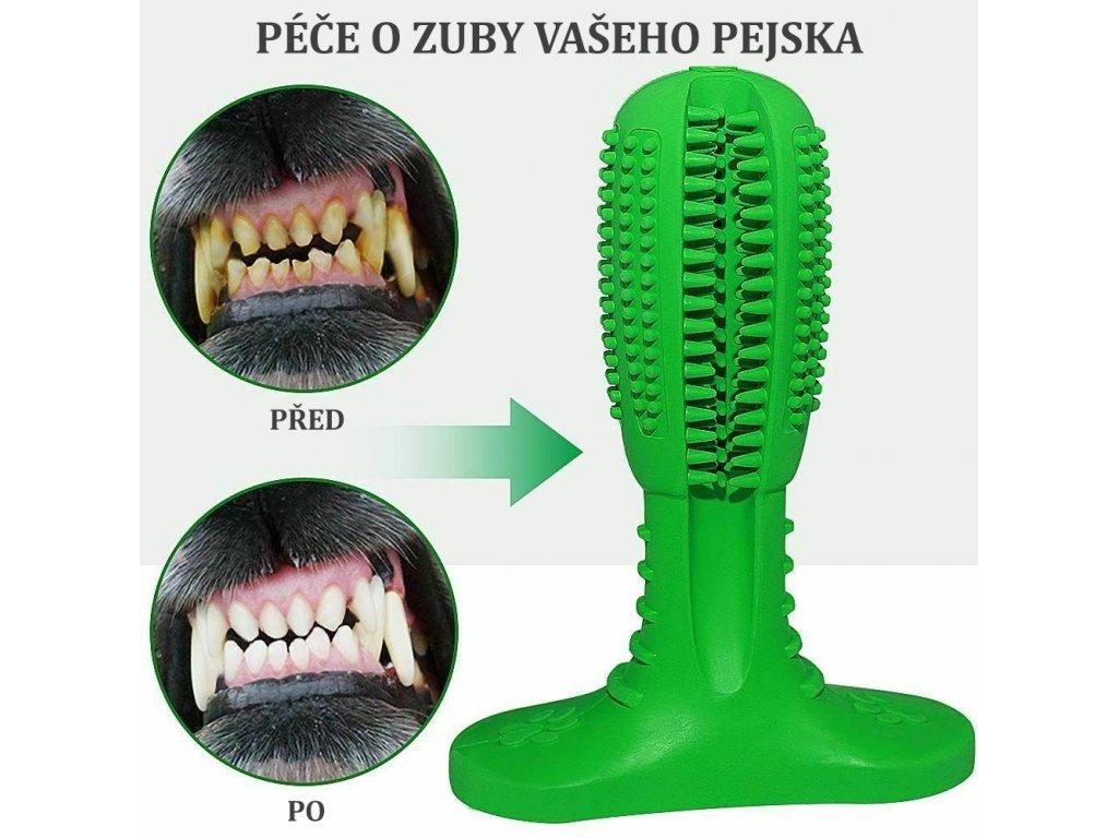 silikonovy kartacek na zuby psa